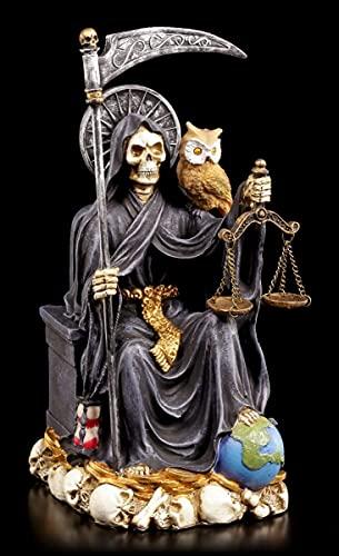 La santa muerte Figura Seduto Nero - Fantasma Squartatore Decorazione Vecchio Felicità Protezione