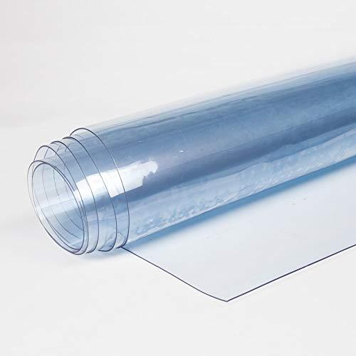 TENDEEVOLUTION Telo PVC Trasparente PLASTIFICATO Cristal IMPERMIABILE Doppio Spessore Vendita al Mezzo Metro Lineare (Altezza PEZZA 180CM, Spessore 0,50MM)