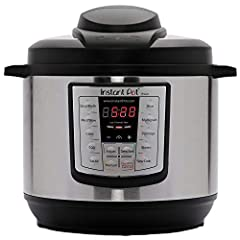 Cooks fast & saves time: The Instant Pot Duo Multi-Cooker combines 6 Appliances in one: pressure cooker, slow cooker, rice cooker, steamer and warmer – and cooks up to 70% faster Consistently delicious: 12 one-touch smart programs put cooking ribs, s...