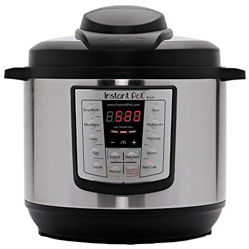 Instant Pot Lux 6-in-1 Multi-Use Programmable Pressure Cooker, 6 Quart | STAINLESS STEEL