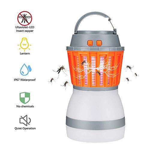Insektenvernichter AmeisenCamping Laterne Mosquito Zapper Zeltlicht, IP67 Regendicht und USB aufladbare Bug Zapper Lampe für Indoor & Outdoor