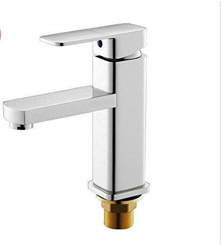 GFF Waschbecken Mischbatterie Bad Küche Becken Wasserhahn Auslaufsicher Sparen Wasserbecken Warmes und kaltes Wasser Bad Einhand Einlochmontage A