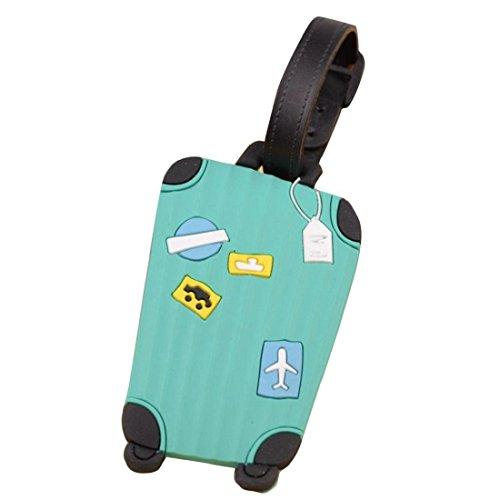 Etiqueta para equipaje,Tongshi viajar identificatoria tarjetero maleta etiqueta la etiqueta para equipaje bolso maleta (Rosado) (Menta verde)
