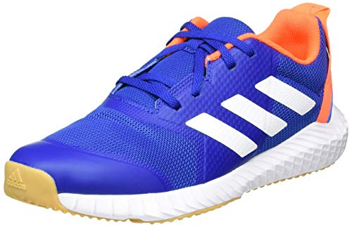adidas Unisex-Kinder FortaGym Sneaker, Blau (Collegiate Royal/Footwear White/Solar Orange), 33 EU