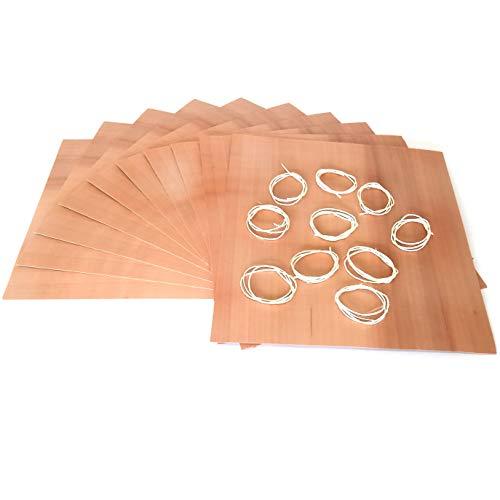Masterpiece - BBQ Grillpapier Birne Set à 10 STK. Wood Wraps Grillfurnier aus Birnenholz in Premium Qualität Räucherfurnier Wood Paper Maße: 190 x 170 mm Wood Paper