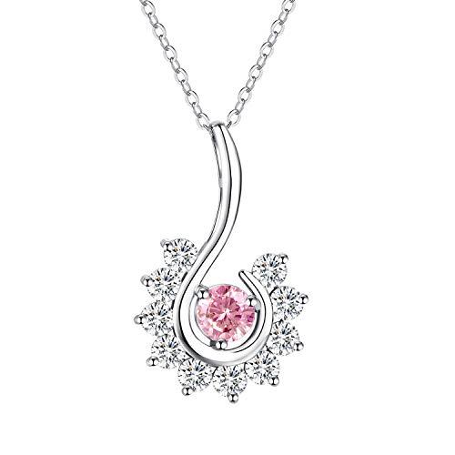 SHECOOL Collar de mujer de plata de ley 925, colgante de regalo para madres, madres, mujeres, novia, abuela, hija, símbolo de suerte y renovación, diseño original, elegante paquete de regalo