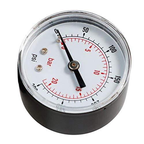 1/4 BSPT Druckluft-Manometer, 0-20 Bar Radial Manometer für Wasser-Luft-Ölmessgerät