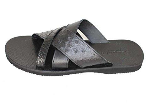 Baldinini Schuhe Herrenschuhe Sandalen Badeschuhe Shoe 568 schwarz Gr.40
