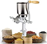 Manual cranked grain mill is ideal for grinding corn, grains, rice, wheat, oats, barley, rye, peppercorns, spices, nuts and can also be used a peanut butter grinder. Keep the Original flavor. All Kinds of Grain such as corn, barley, grains, coffee, c...