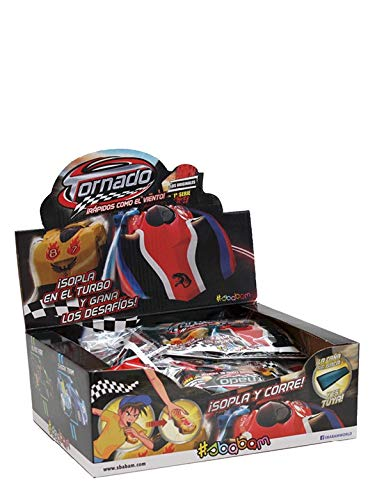 Sbabam 868409 Display Tornado Air Cars, 12 Sobres, Multicolor