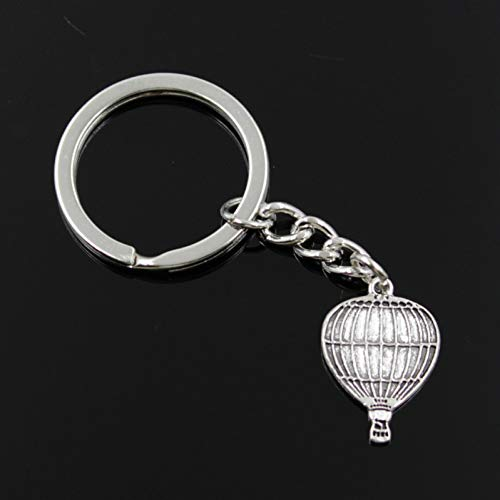 HXYKLM mode mannen 30mm sleutelhanger DIY metalen houder ketting vintage hete lucht ballon 24x16mm zilveren hanger Gift