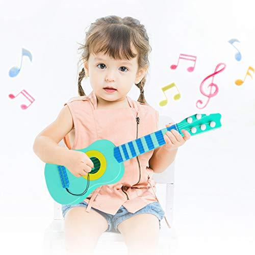 WEY&FLY Kinder Spielzeug Gitarre, 6 Saiten erste Musikinstrument, Pädagogisches Lernspielzeug für Anfänger Mädchen Jungen Geburtstag Weihnachten, fördert Musikfähigkeit (Blau)