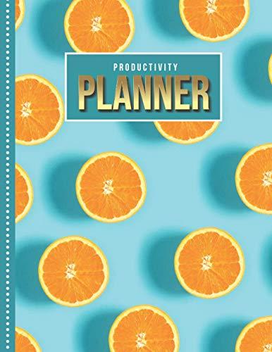 Productivity Planner: Orange Pattern on Turquoise - Fruit...