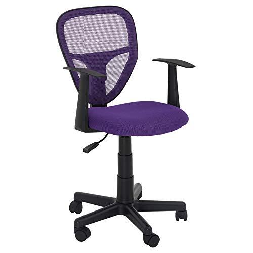 CARO-Möbel Schreibtischstuhl Studio Kinderdrehstuhl Bürostuhl Drehstuhl in lila mit Armlehnen, höhenverstellbar