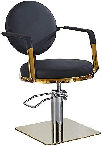 JZYQWE Asiento cómodo, Estilo Clásico de la Silla de Peluquero Hidráulico Silla de Barbería Silla de Salón de Estilo