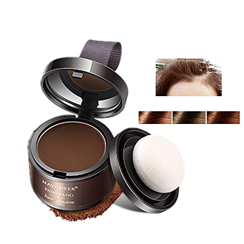 Polvo para rayitas, Sombra para el cabello, Corrector para las raíces del cabello, Polvo para cubrir las sombras para el cabello, Uso para rellenar el cabello debilitado, marrón