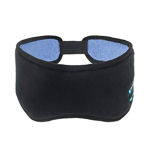 Buhui Schlafmaske, kabellos, 5.0, Bluetooth-Kopfhörer, Augenmaske, Musik, Reisen, Schlafköpfe mit ultradünnen HD-Stereo-Lautsprechern, Freisprech-Schlafmaske