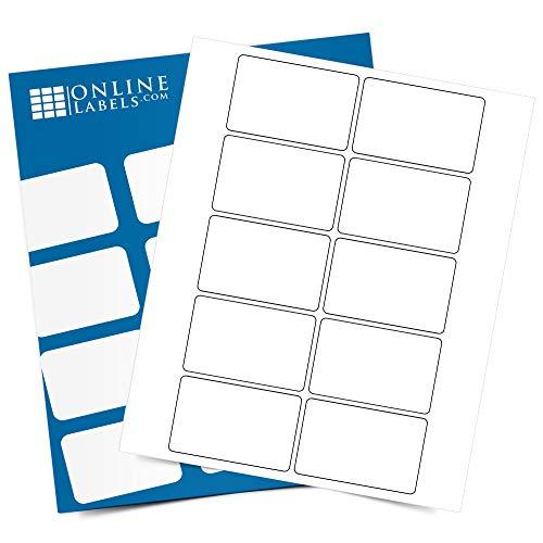 3 x 2 Rectangle Labels - Permanent, White Matte - Wax Melt, Soap, Address Labels - Pack of 1,000 Labels, 100 Sheets - Inkjet/Laser Printers - Online Labels