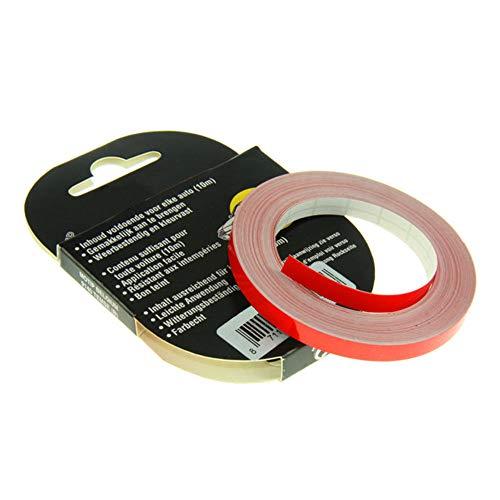 cyclingcolors Adhesivo para borde de llanta de 12 mm, 10 m, para coche, moto o bicicleta, color rojo