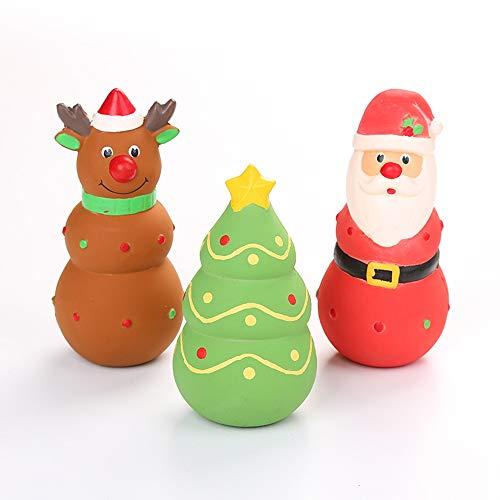 TIAS Kauspielzeug für Hunde aus der Weihnachtsserie, Weihnachtsmann, Elch, interessantes...