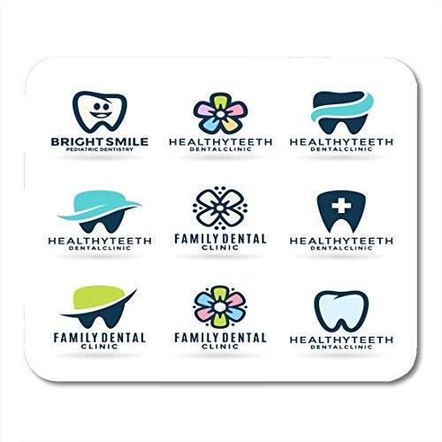 Mauspads lächeln blau zahnarzt zahnärztliche stomatologie zähne abstrakt zahnpasta blumen mauspad für notebooks, Desktop-computer matten büromaterial