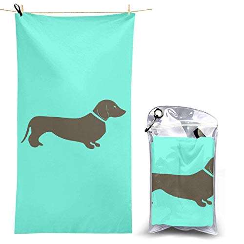 XCNGG Microfiber Beach Towel, Long Haired Dachshund Quick Fast Dry Towel Blanket Sand Free Soft Absorbent Lightweight Bath Towels for Beach, Bath, Swim, Travel