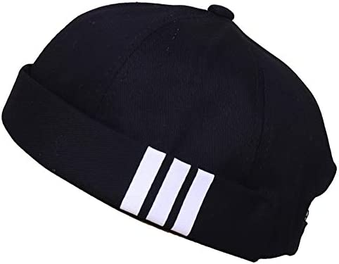 4UFiT Retro Max 52% OFF Brimless Stripe Jacksonville Mall Docker Beani Hat Adjustable