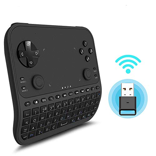Wireless Mini Keyboard, GAKOV GAU6 Mini 6-in-1 Smart Gamepad with Touchpad and Remote Control