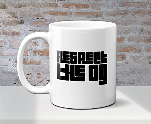 N\A Taza de Doble Cara Quotrespect The Ogquot en Fuente clásica GTA