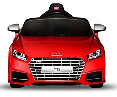Audi RUNRUNTOYS TT Eléctrico de 12V Licenciado para Niños de +3 Años Motores y Dos Velocidades, Color Rojo (Herrajes Multimec 4002)
