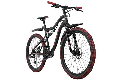 KS Cycling Mountainbike Fully 26'' Crusher schwarz-rot RH 46 cm