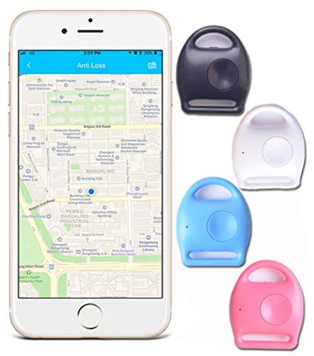 Auoeer Key Finder, Mini perseguidor Dispositivos Bluetooth, perdida Anti-Chip, GPS, Controles remotos Item Finder perseguidor Elegante, teléfono localizador, Pet Tracker, for iOS y Android