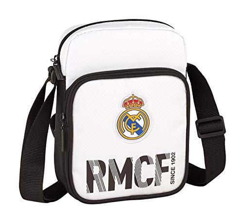 Real Madrid 611854672 2018 Bolso Bandolera, 22 cm, Blanco