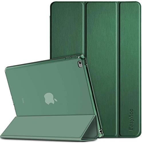 EasyAcc Funda Estuche para iPad Air 2, Smart Estuche Contraportada Mate Translúcido Encendido/Apagado Automático para iPad Air 2 A1566/A1567(Verde Oscuro)