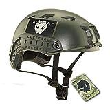 ATAIRSOFT Casco SWAT Casco rápido Tipo BJ para Airsoft Tactical Army Military Shooting Paintball CS