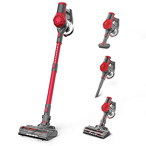 Cordless Vacuum Cleaner 21Kpa Strong Suction, Stick Vacuum with 2.5H Fast Charging Detachable Battery, Powerful Brushless Motor, Ultra Quiet...