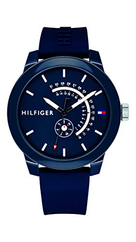 Tommy Hilfiger Reloj Analógico para Hombre de Cuarzo con Correa en Silicona 1791482