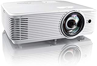 Optoma EH412ST Short Throw 1080P HDR Professional Projector   Super Bright 4000 Lumens   Business Presentations, Classrooms, or Meeting Rooms   15,000 Hour lamp Life   Speaker Built in   Portable