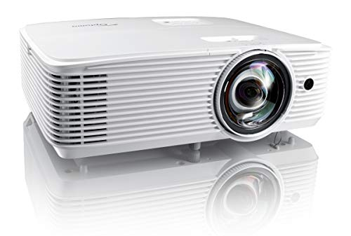 Optoma EH412ST Short Throw 1080P HDR Professional Projector | Super Bright 4000 Lumens | Business Presentations, Classrooms, or Meeting Rooms | 15,000 Hour lamp Life | Speaker Built in | Portable