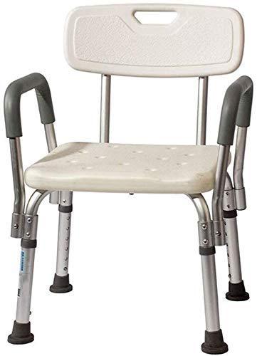 ZXY-NAN Bathroom Wheelchairs Stools Bath Stool Bath Chair Shower Stool SeatLightweight AluminumNonSlipAdjustable Heightwith Armrests Elderly Disabled Pregnant Women Antislip Shower Seat Stool