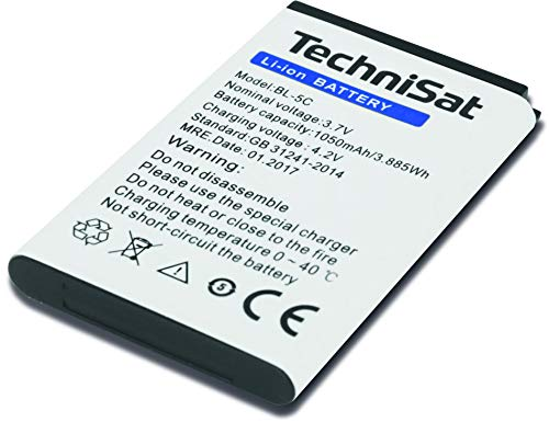 TechniSat Akku zu DIGITRADIO 1/2, TECHNIRADIO RDR, TECHNIRADIO 6 IR (BL-5C, 3.7 V und 1050 mAh