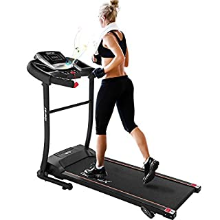 Merax Electric Folding Treadmill – Easy Assembly Fitness Motorized Running Jogging Machine with Speakers for Home Use, 12 Preset Programs (Black) (B07QDX6G7H) | Amazon price tracker / tracking, Amazon price history charts, Amazon price watches, Amazon price drop alerts