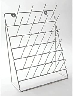 Drying Rack, Steel, White, Angled, 32 Pegs