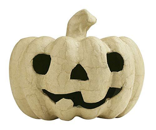 Décopatch SA179O Träger S aus Pappmaché, Kürbis, 11 x 11 x 12 cm, zum Verzieren, perfekt für Halloween, Kartonbraun