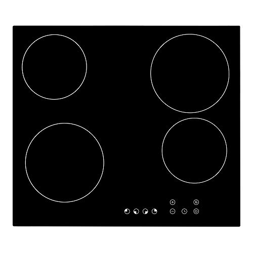 Cookology TCH601 60cm Ceramic Hob in Black, Built-in worktop with Touch...