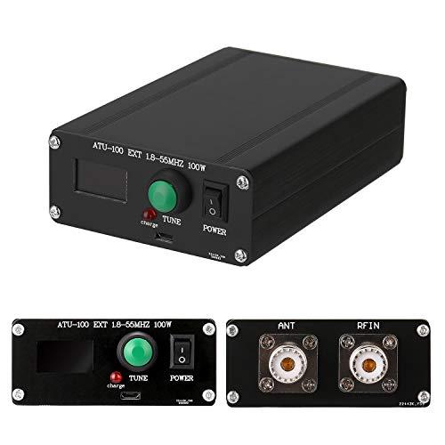 Festnight ATU-100 EXT 1.8-55MHz 100W Sintonizador de antena automático de onda corta de código abierto con carcasa de metal ensamblada