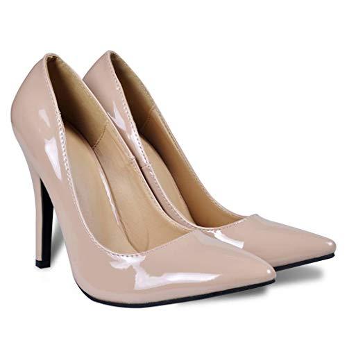Viel Spaß beim Einkaufen mit Pumps Damenschuhe Stöckelschuhe Nude Gr. 40