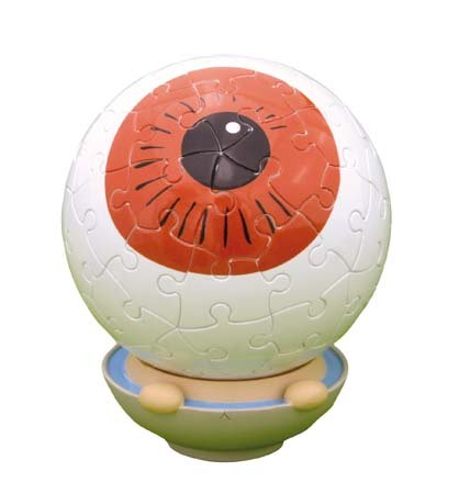 The Yanoman Kitaro 60 Piece Eyeball Father of 3D Sphere Puzzle Kitaro (Diameter of About 7.6cm) (Japan Import)