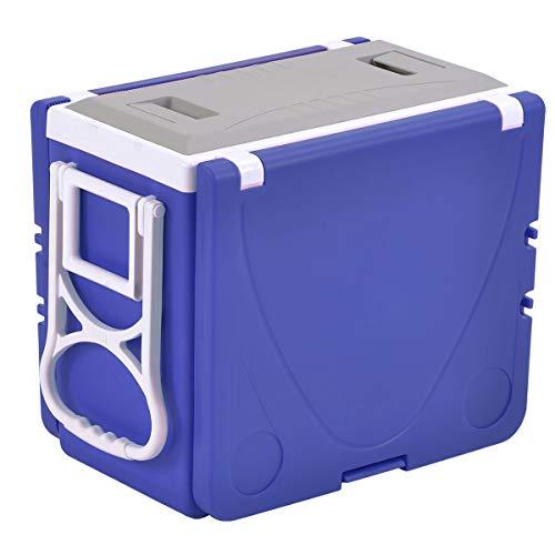 KYH Rollo Más Fresco Al Aire Libre Multifuncional Plegable Mesa Refrigeradora Más Caliente con Ruedas Mesa 2 Sillas 28L 8 Horas Blue