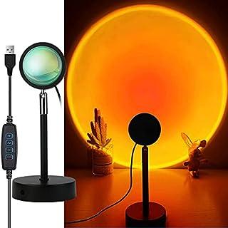 Sunset Lamp, Lampe Coucher de Soleil avec Sunset aura, Lampe USB, Coucher Soleil Romantique pour Mariage Anniversaire FêTe...